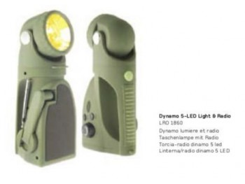 Dynamo 5 led light & radio