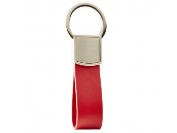 Jaguar Leather Loop Sleutelhanger (Rood)