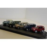 Oxford 5 pc set Land Rover 1:76